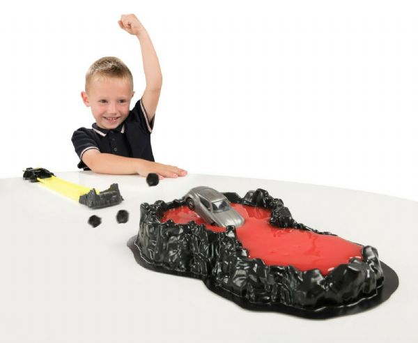 Teamsterz Lava Splat Track Set including Toy Car and Slime Play Set